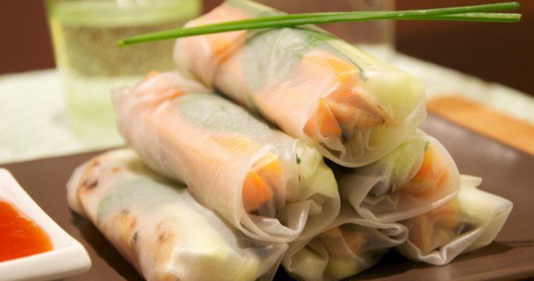 Rollitos vietnamitas (gỏi cuốn)