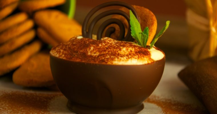 Tiramisú de Speculoos en mini bowl de chocolate