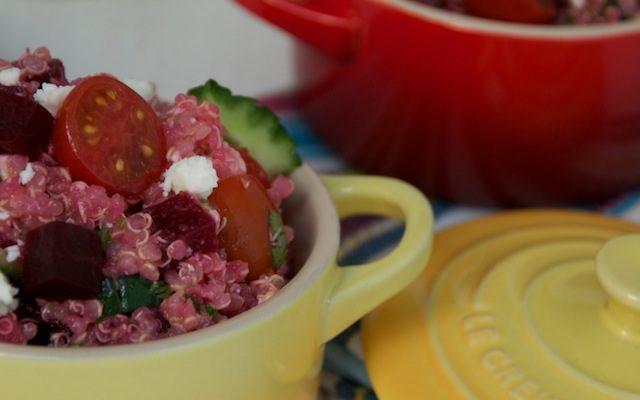 Ensalada de quinoa con remolacha