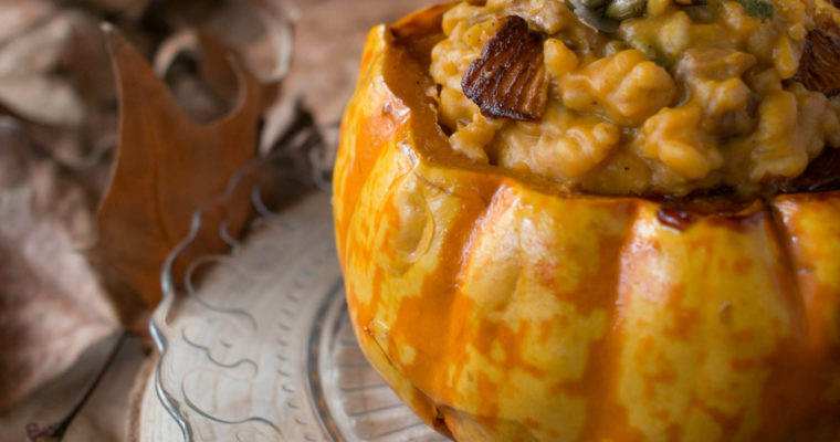Risotto de setas y calabaza | Wild mushroom and pumpkin risotto