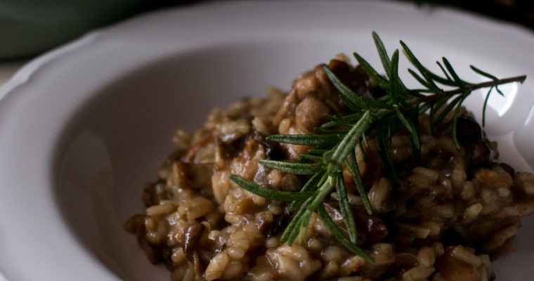 Risotto de conejo y setas | Wild mushroom and rabbit risotto