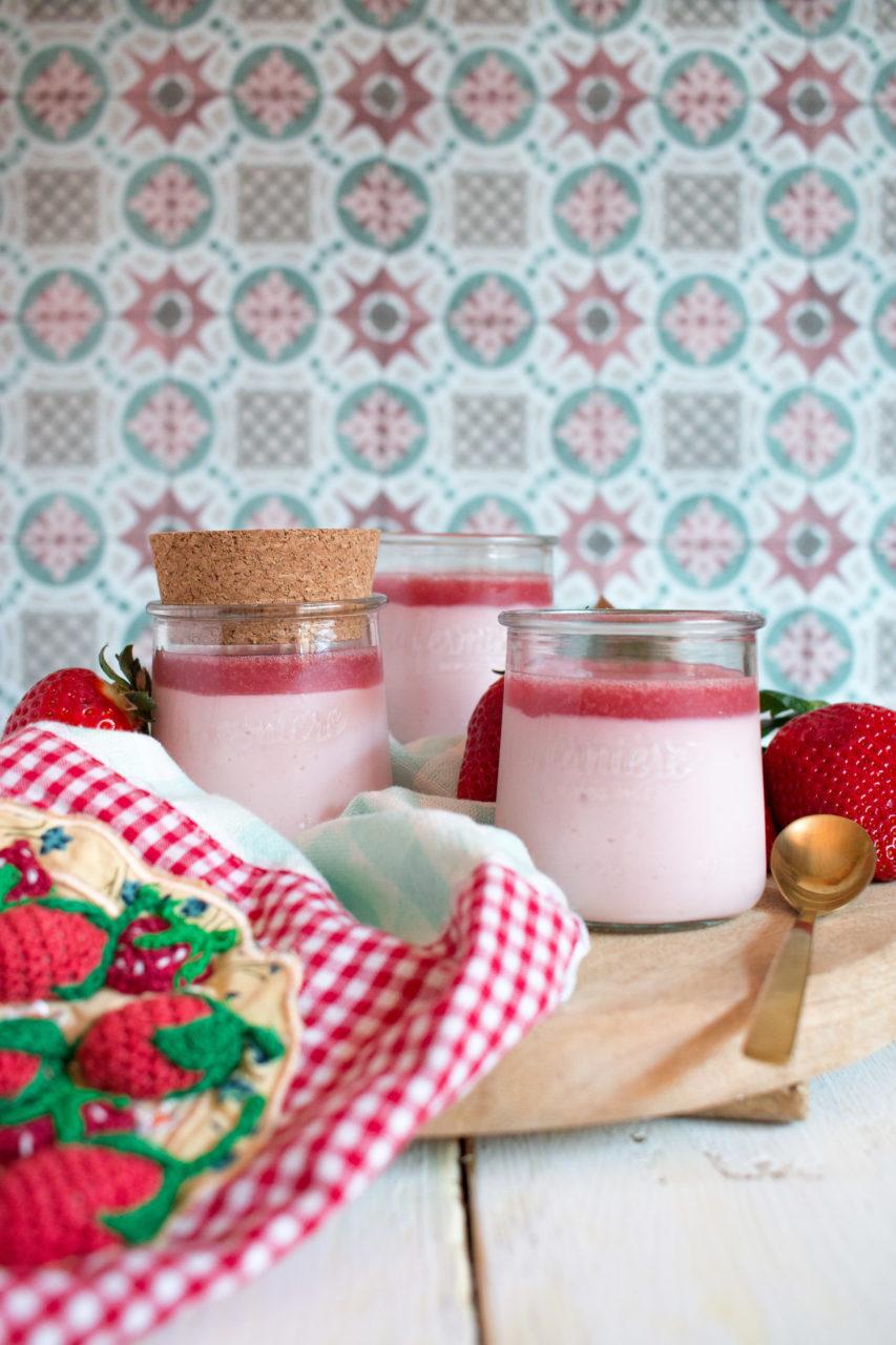 Petite-suisse de fresa caseros | Homemade strawberry Petit-suisse