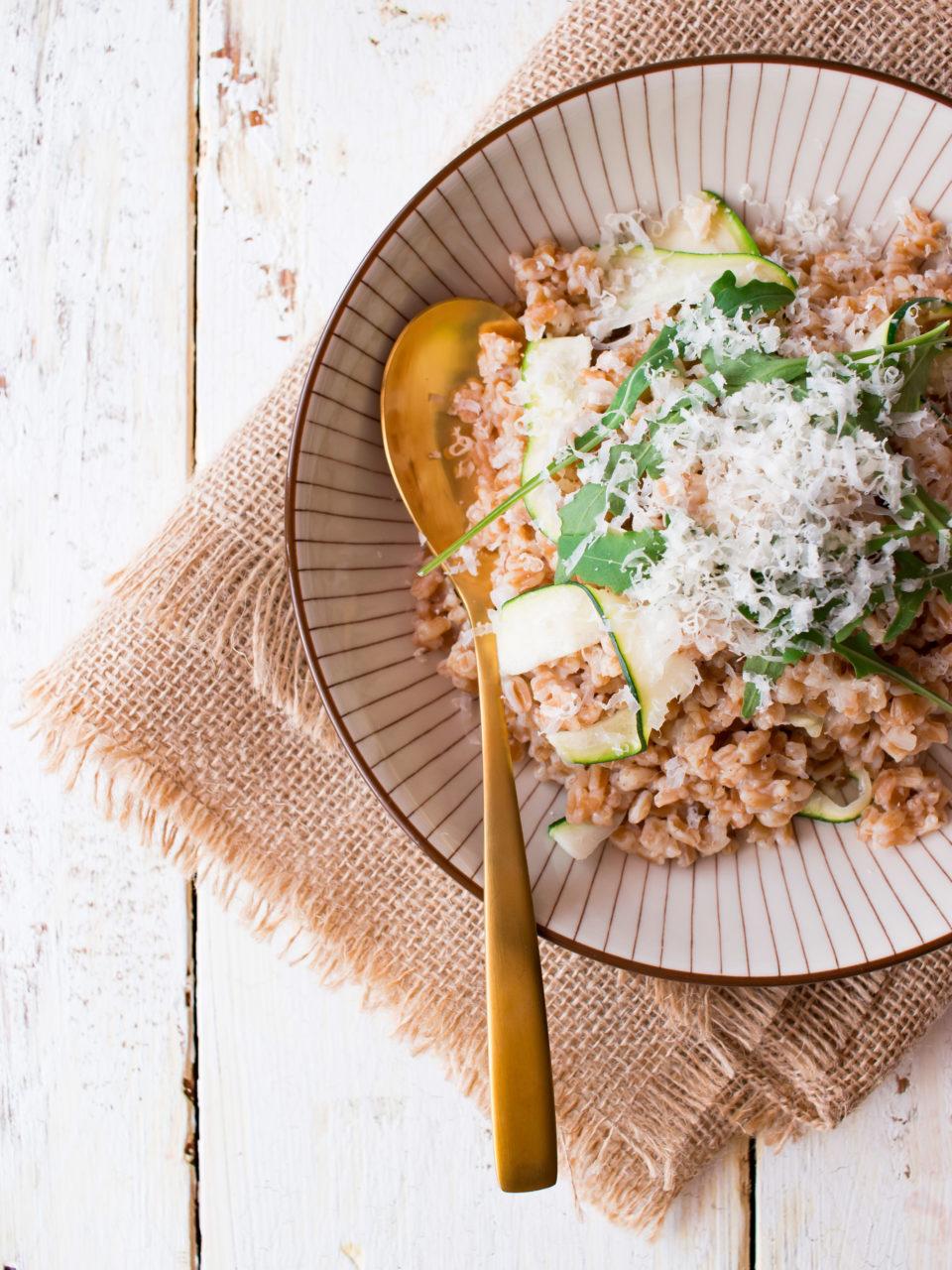 Risotto de espelta y calabacín | Spelt and courgette risotto