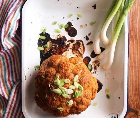 #instarecipe · Coliflor asada | Baked cauliflower ·