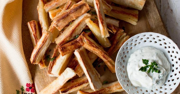 #instarecipe · Bastones de yuca al horno | Baked yucca strips ·