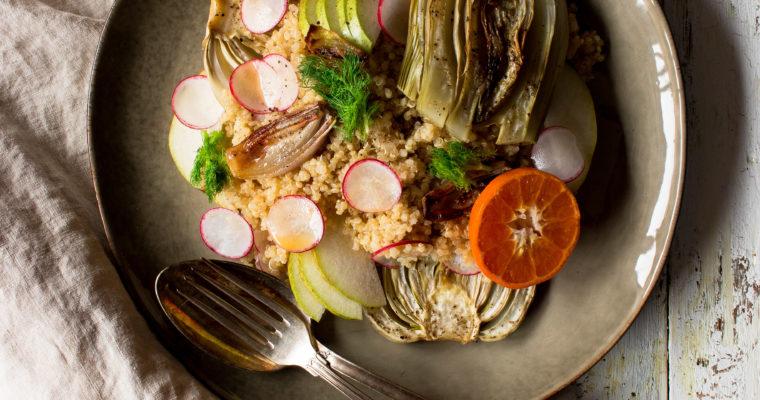 #instarecipe · Ensalada templada de hinojo y quinoa | Warm fennel and quinoa salad ·