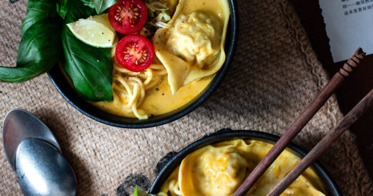 Sopa de curry con wonton | Curry soup with wonton