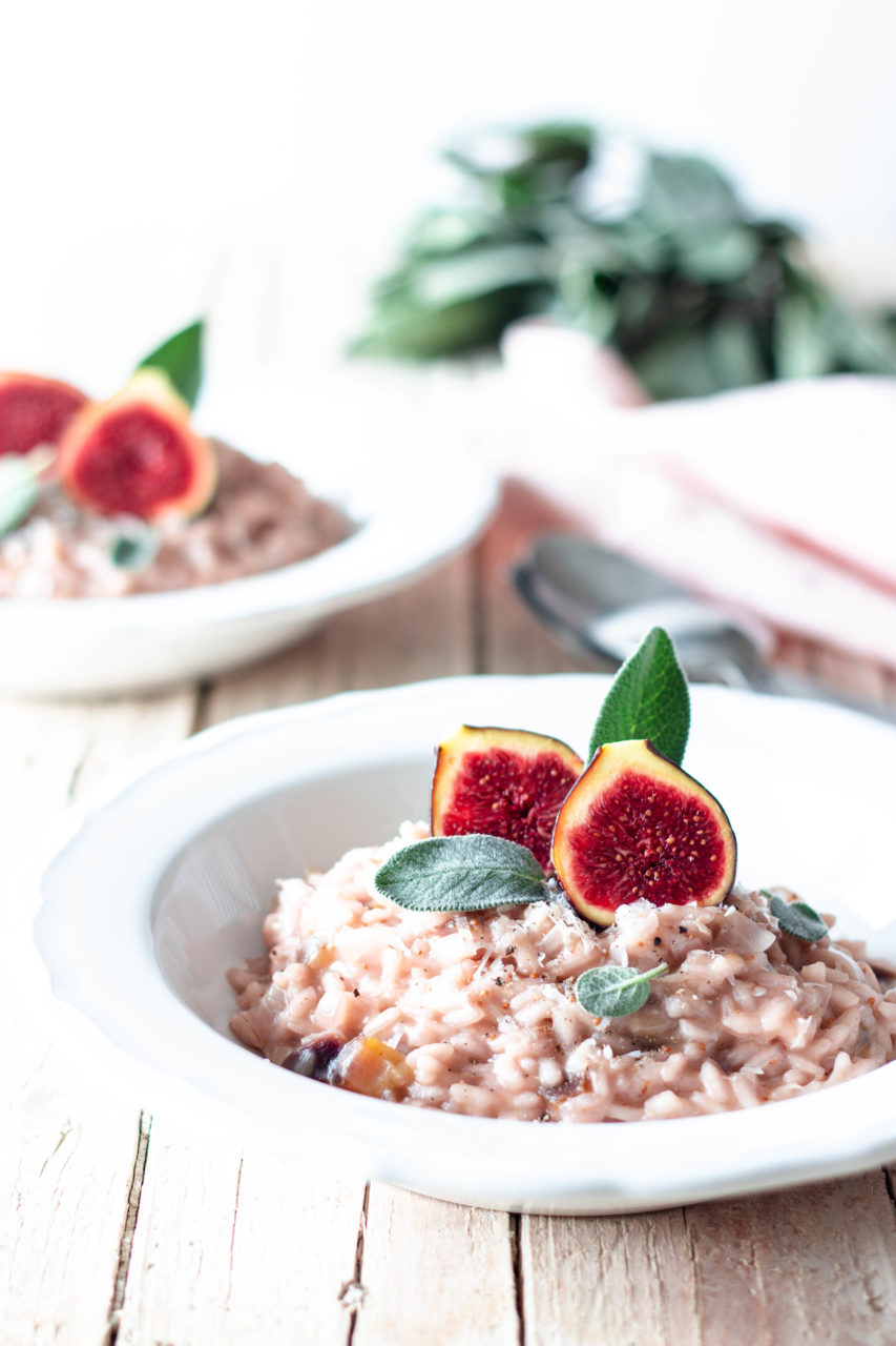 #instarecipe · Risotto de higos y queso pecorino | Figs and pecorino cheese risotto ·
