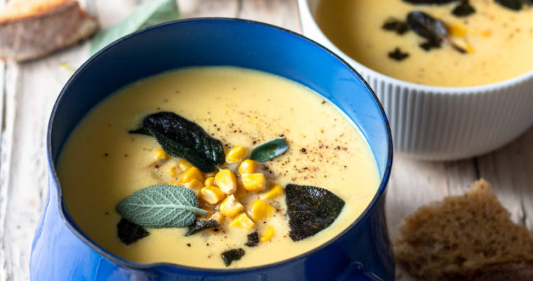 #instarecipe · Crema de maíz y patata | Corn and potato cream ·