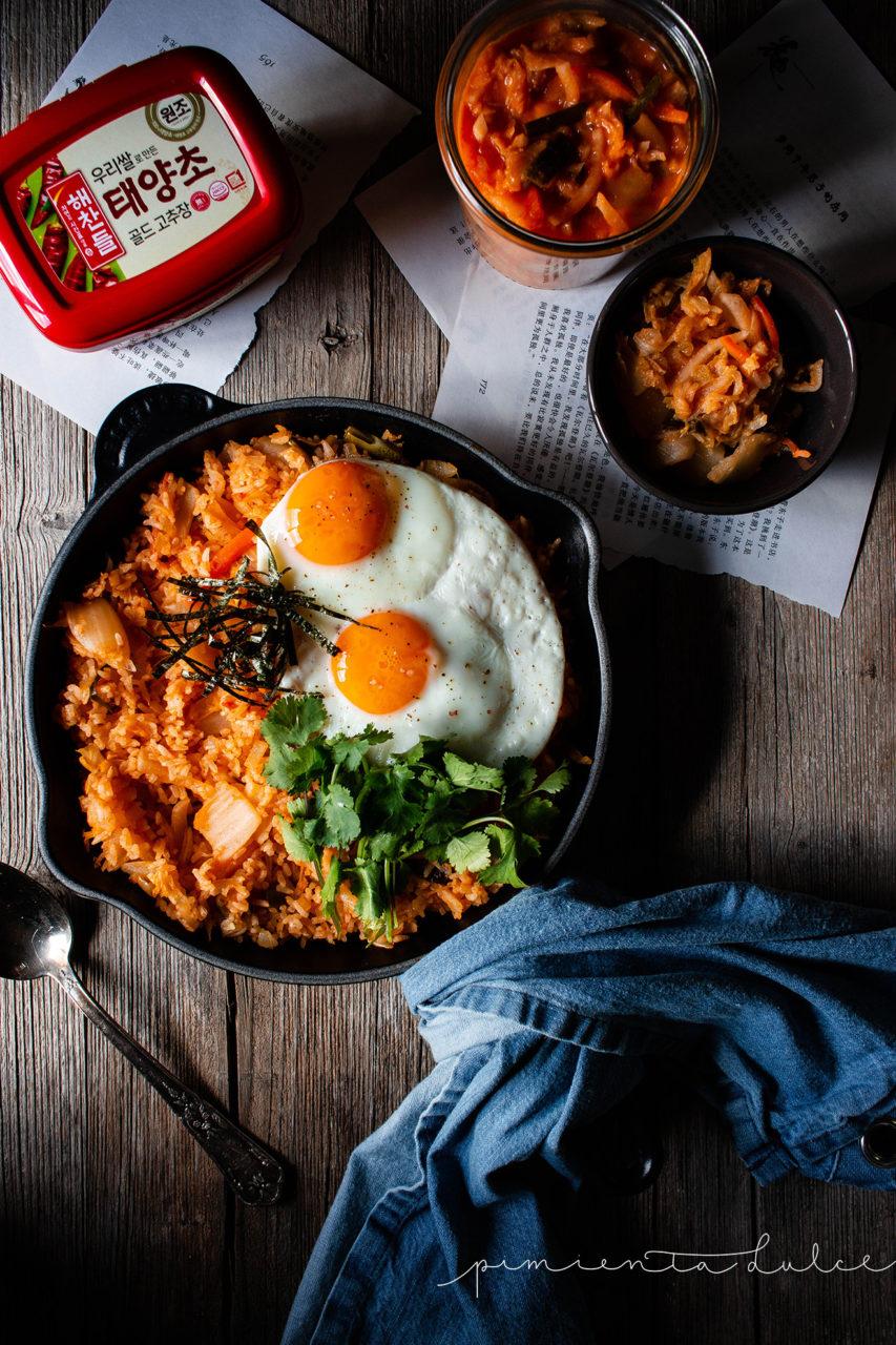 #instarecipe •Arroz frito con kimchi   Kimchi fried rice•